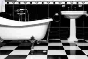 checkerboard-style-bathroom